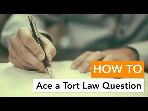 How to Ace a Tort Law Question - YouTube