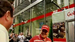 """John Daly """"breaks into"""" NYC Golfsmith Store at Grand Opening"""