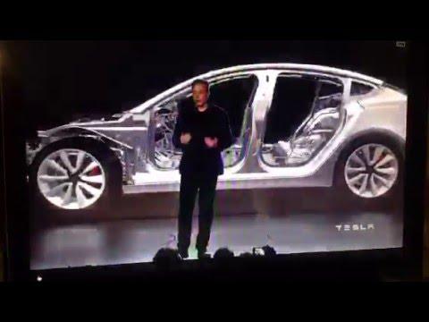 Elon Musk unveils the Tesla Model3