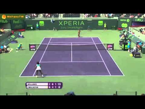 Serena Williams vs Dominika Cibulkova Miami 2013 Highlights
