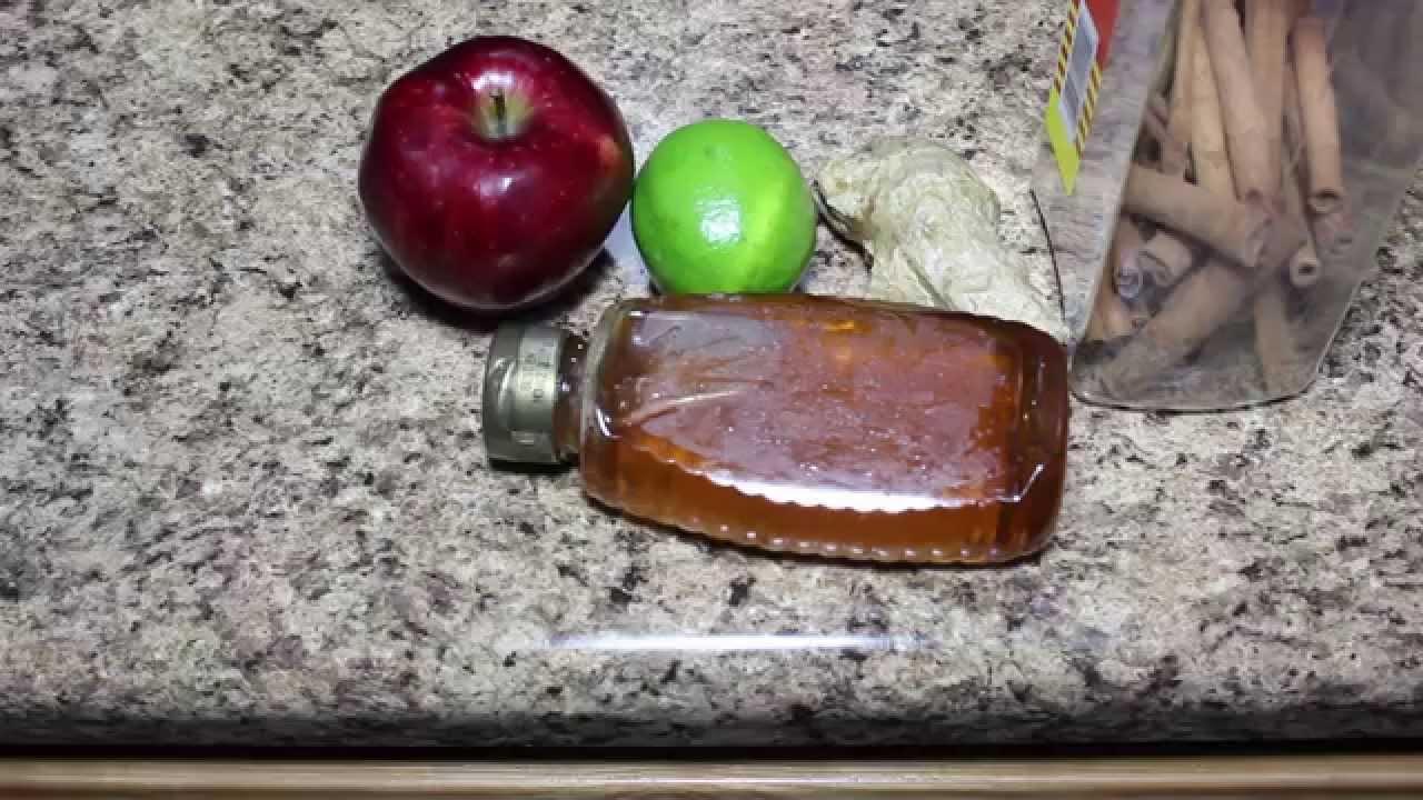 te de manzana con canela y jengibre