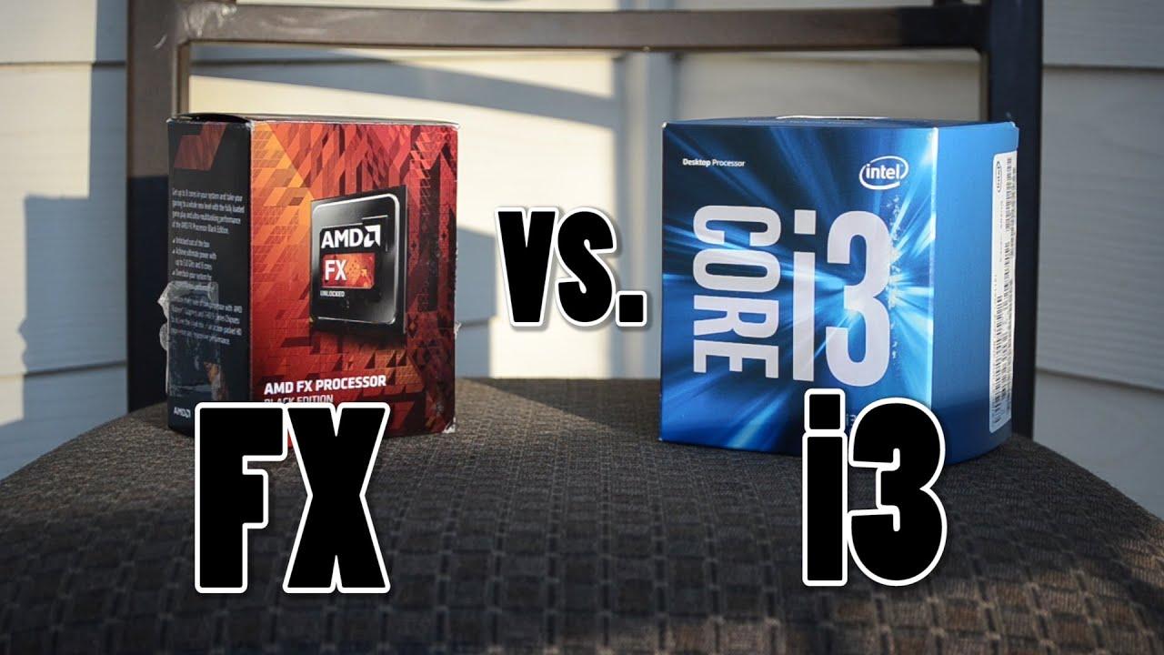 Intel i3 6100 vs. AMD FX 6300 - YouTube