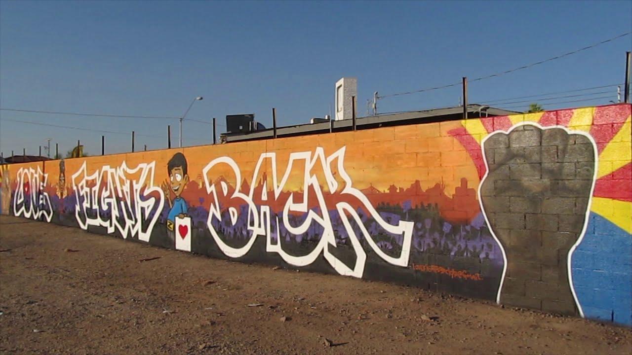 Phoenix IRL, Love Fights Back Wall Mural (Love Fights Back Collaborative), June 22nd, 2020, Phx, AZ