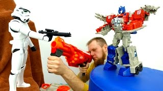 Трансформеры и Стар Варс: Автоботы против Дарт Вейдера!