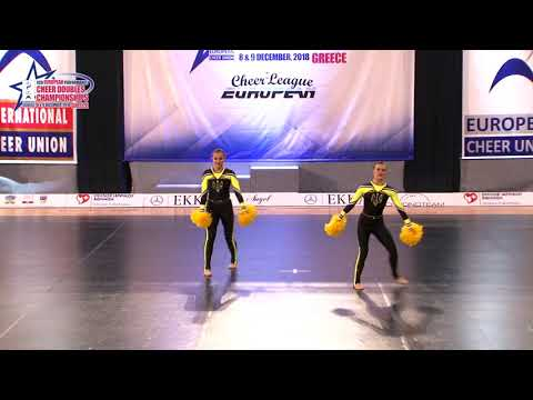 92 JUNIOR DOUBLE FREESTYLE POM Bohynia   Honcharova  PROMETEY  UKRAINE