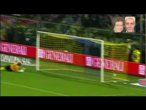 Giuseppe Rossi GOL in Italia-Estonia 3-0 (3/6/2011) con Riccardo Cucchi & Francesco Repice