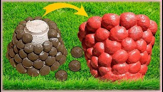 Аппетитный вазон/кашпо из бетона (цемента) своими руками Идеи для сада и дачи Video