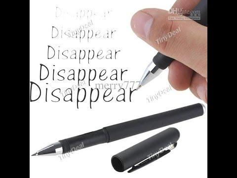 disappearing ink pen youtube. Black Bedroom Furniture Sets. Home Design Ideas