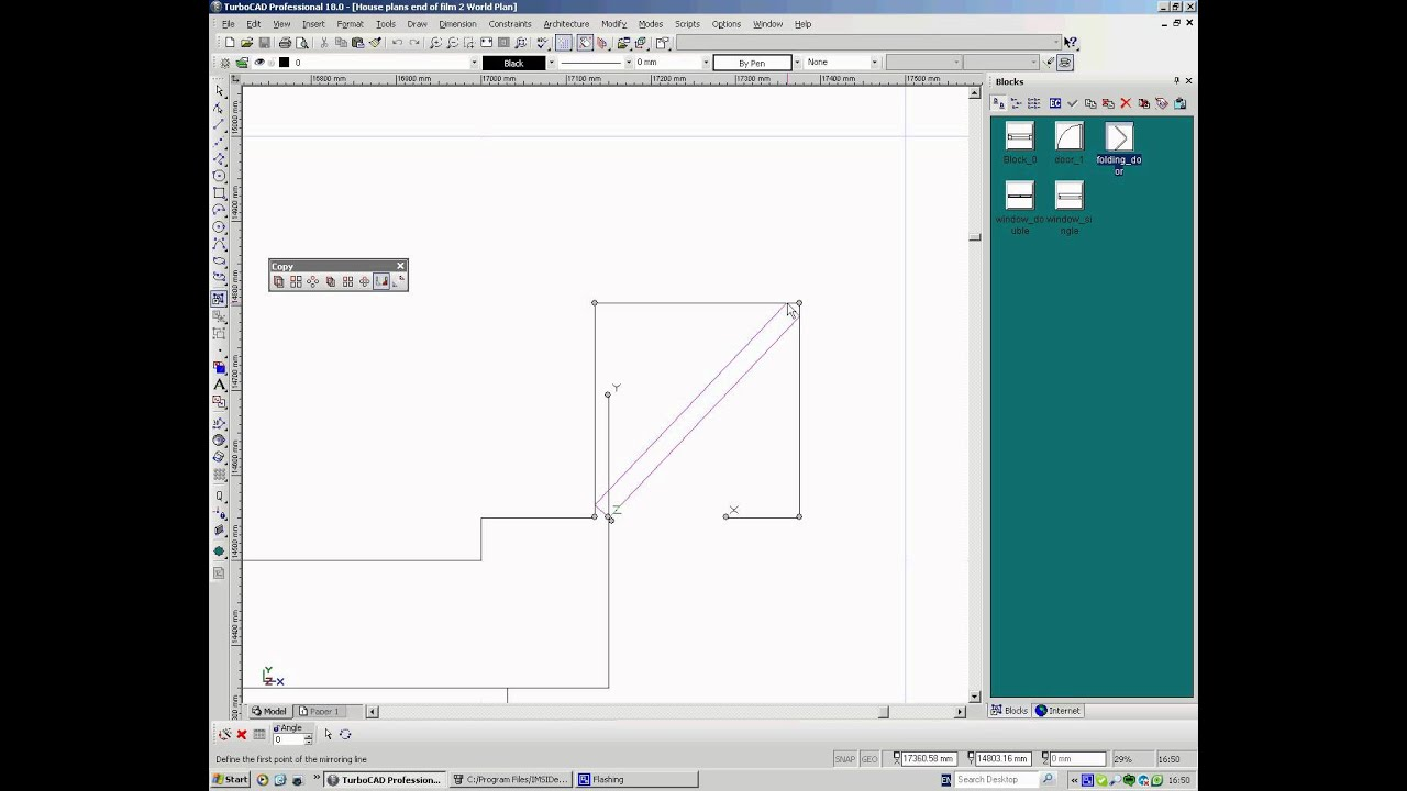 TurboCAD Drawing House Plans 3, Creating Doors and Windows and ...