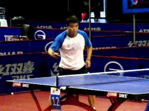 WTTC 2011 - Wang Hao Reverse Penhold Backhand (SloMo)