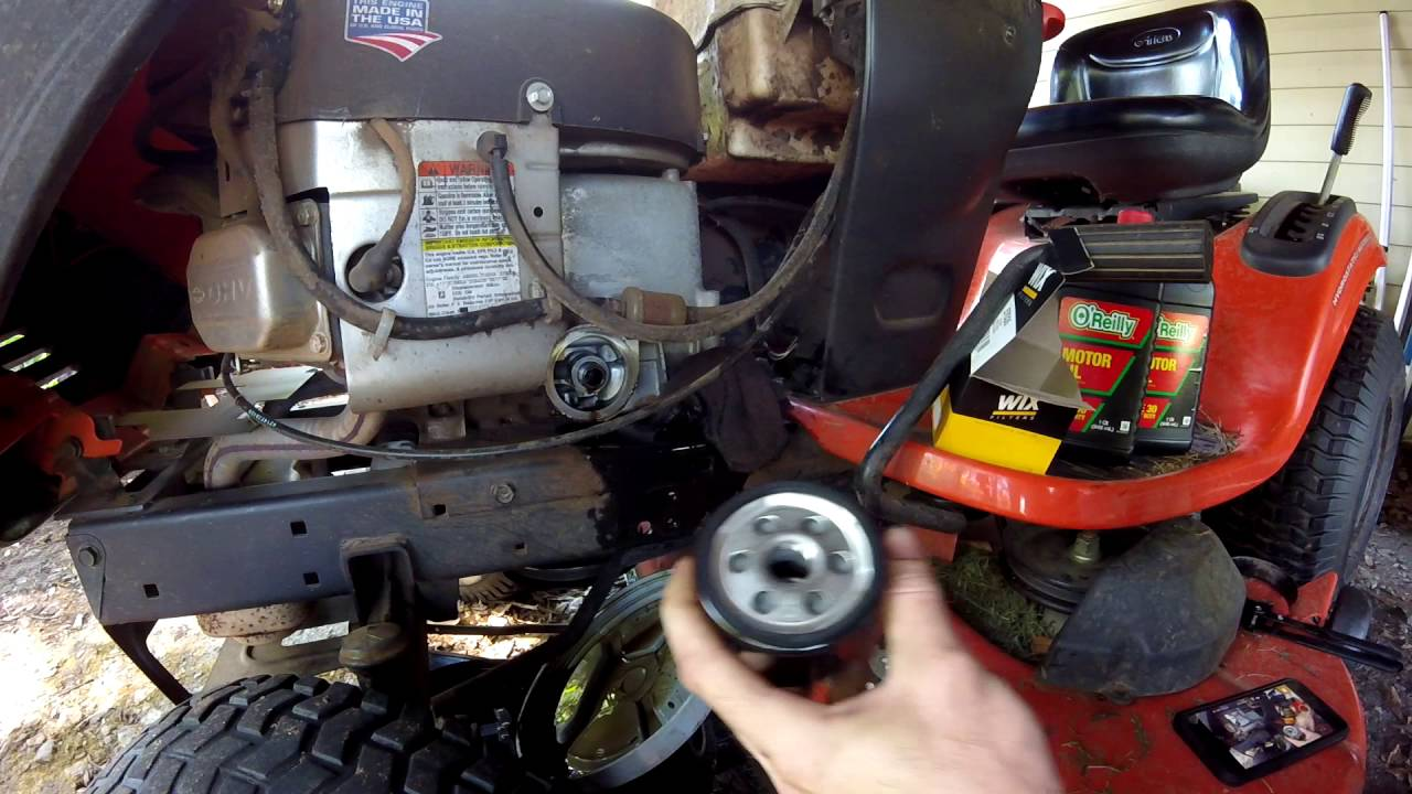small resolution of oil change how to ariens lawn tractor briggs and stratton 656 youtube