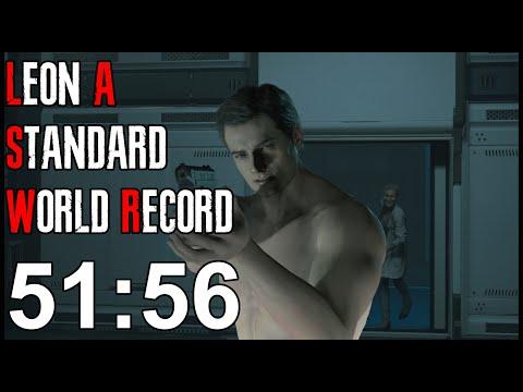 Resident Evil 2 Remake - Leon A Speedrun World Record - 51:5