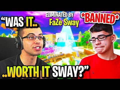 NICK EH 30 *BANS* FaZe SWAY after RUINING his SCRIMS! (Fortnite)
