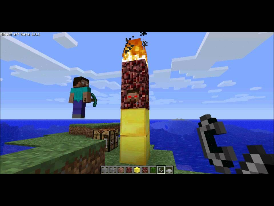 Minecraft how to spawn and fight against herobrine 181 youtube publicscrutiny Choice Image