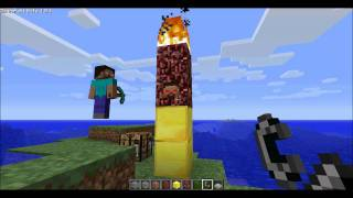 minecraft how to spawn and fight against herobrine 1 8 1