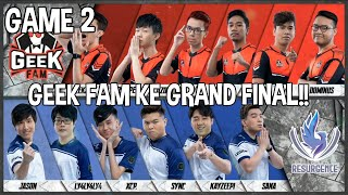 GEEK FAM KE GRAND FINAL MPL S5!! GEEK FAM VS RESURGENCE | MOBILE LEGENDS | GAME 2