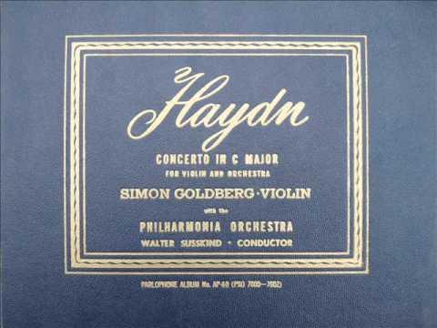 Joseph Haydn Violin Concerto in C Major. Simon Goldberg 1947