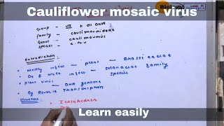 Cauliflower mosaic virus ll biology ll