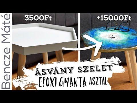 D.I.Y. ÁSVÁNY asztal OTTHON (epoxi gyantával) | Bencze Máté