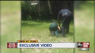 Pit bull fatally shot after attacking 2 in Polk