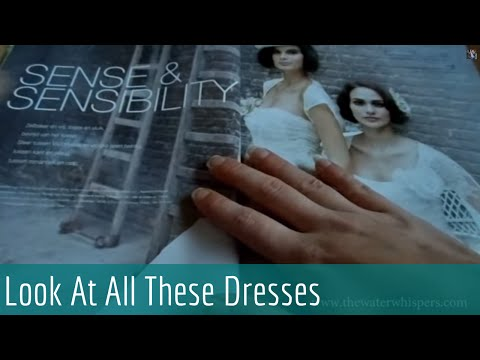 ASMR Soft Spoken - Relaxing Bridal Magazine Flipping