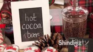 Holiday Party Ideas - Hot Chocolate Candy Buffet - Shindigz