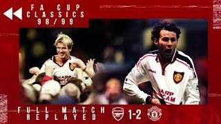 FULL MATCH REPLAYED! 1999 FA Cup Semi-Final Replay | Arsenal 1-2 Manchester United