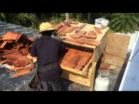 Steam bending hardwood shingles