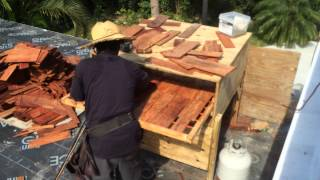 Steam bending hardwood shingles