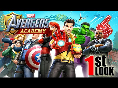 Marvel Avengers Academy | Build your OWN Heroes Academy ! (1st Look iOS Gameplay)