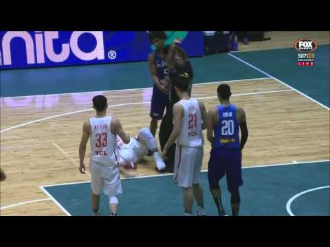 Calvin Abueva Ejected After Headbutting China's Li Gen (VIDEO) FIBA Asia Cup 2017