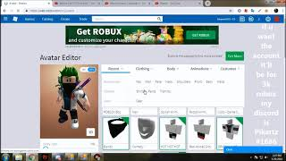 selling roblox account