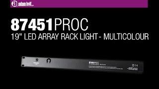 """Adam Hall 19"""" Parts 87451 PRO C - 19"""" LED Array Rack Light multicolor 1 U"""