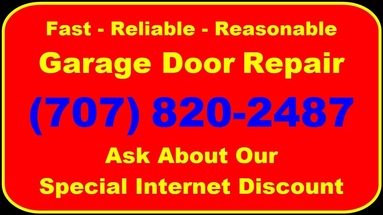 Garage Door Repair Santa Rosa Ca 707 820 2487 Youtube