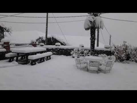VÍDEO Nevada en Ponga, enero 2021