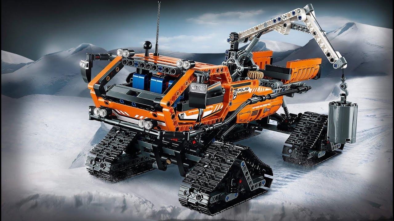 lego technik 42038 arktis kettenfahrzeug speed build