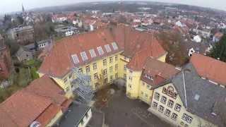 Grundschule Moritzberg Hildesheim (gelbe Schule) aus der Luft - 06.12.2014