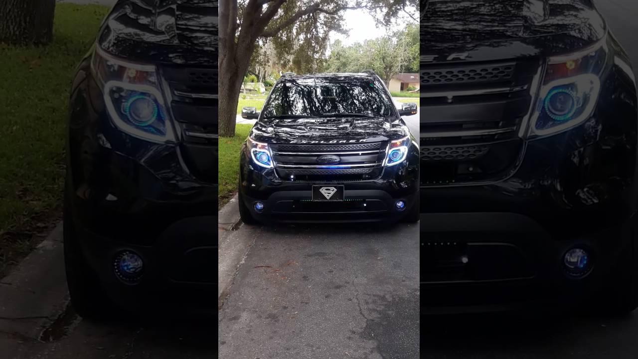 Ford Explorer Limited >> 2013 Ford explorer custom lights. - YouTube