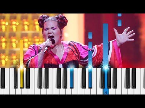Netta - TOY - Piano Tutorial / Piano Cover - Eurovision 2018