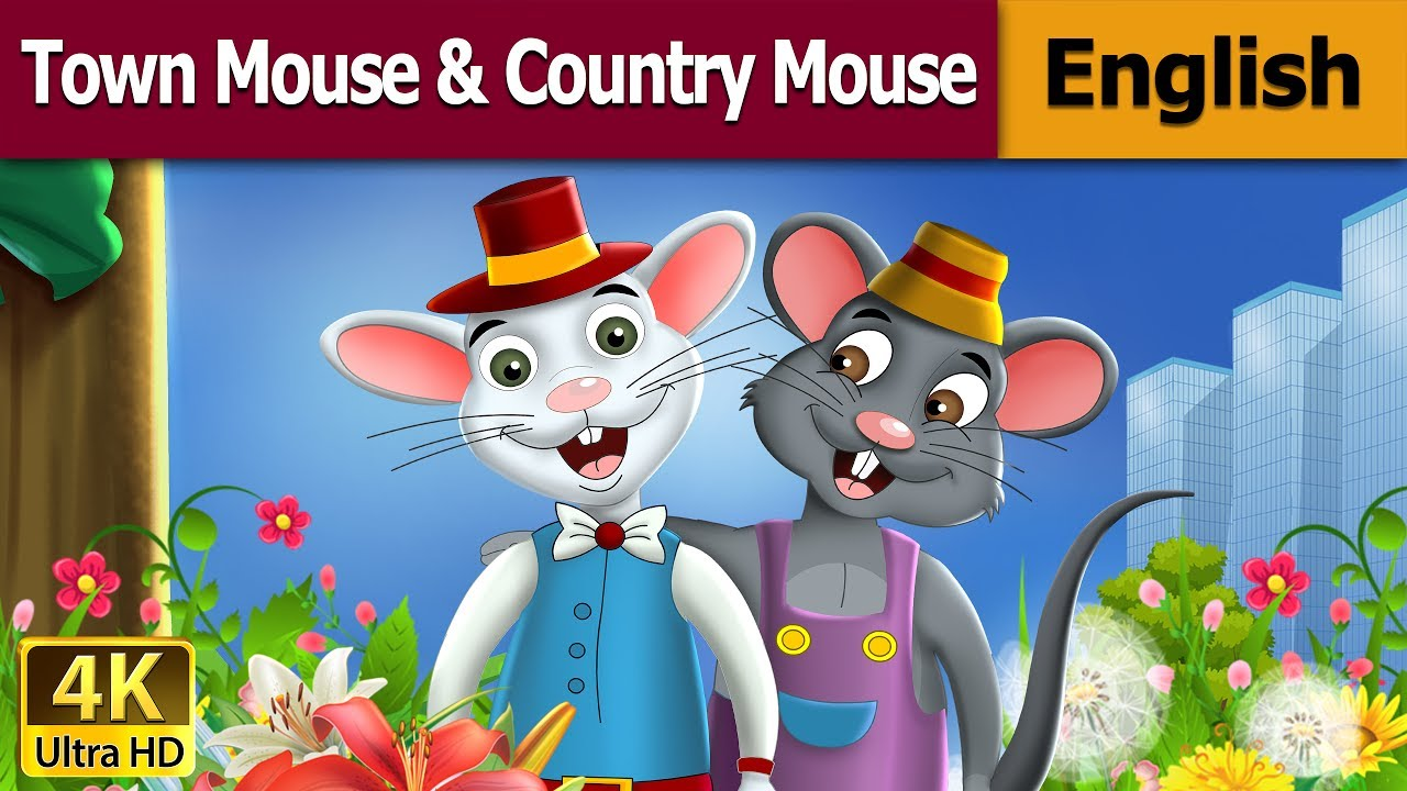 town mouse and the country mouse in english story english fairy tales youtube. Black Bedroom Furniture Sets. Home Design Ideas