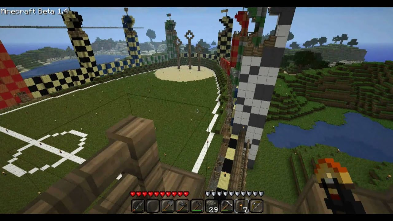Minecraft Quidditch Pitch Youtube