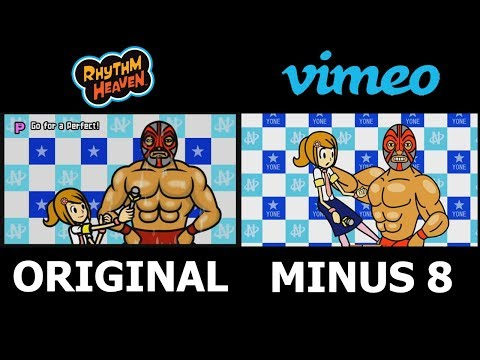 Minus 8 Rhythm Heaven Parody Side-By-Side Comparison w/ Original Rhythm Heaven Remix 10
