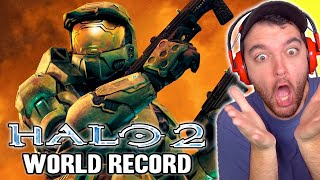 "WORLD RECORD ""HALO 2"" LEGENDARY SPEEDRUN IS INSANE!!!"