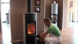 Het omgekeerde houtkachel aansteek methode, minder rook en aanslag  By Qkachels nl