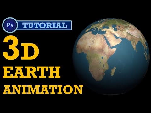 How to make 3D earth Animation in Photoshop? | Photoshop Tutorial