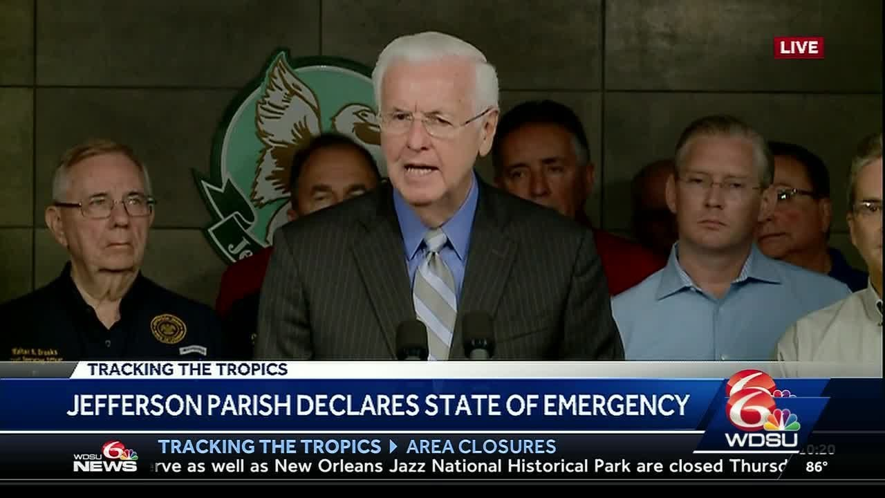 Jefferson Parish officials provide update on storm preparations
