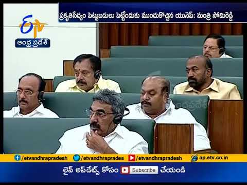 Government Promoting Natural Farming | Minister Somireddy at Assembly