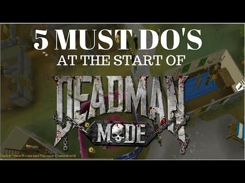 5 Things you MUST DO at the start of NEW DEADMAN MODE season (Guide for First Timers)