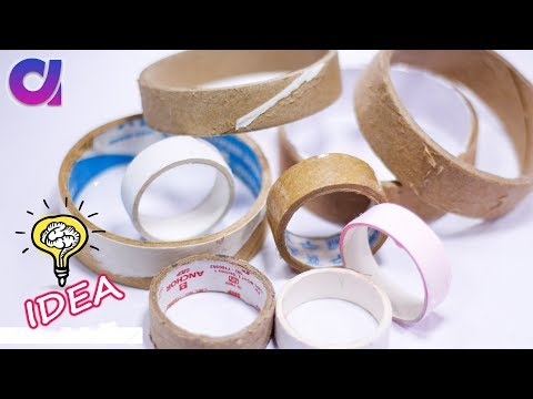 How to reuse waste tape roll at home | Best out of waste | Artkala 356