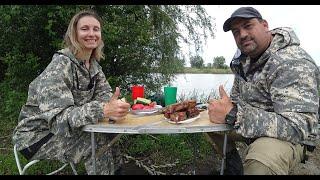 Рыбалка в выходной Шашлык на реке Капризный карась
